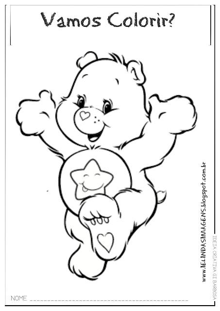 Ursinho Carinhoso super fofinho para colorir