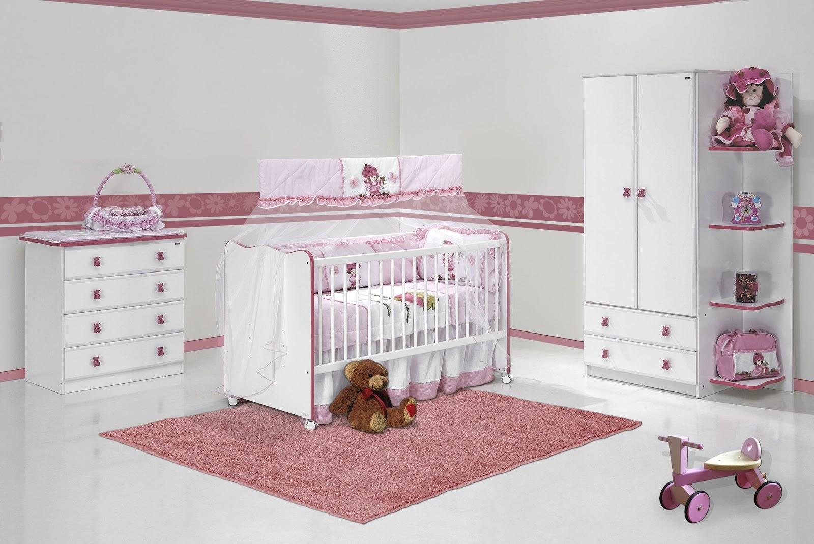 Já escolheu a cor do quarto do seu neném? Paulo Cezar e  ~ Quarto Rosa Bege