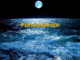 Fondo presentación mar y luna