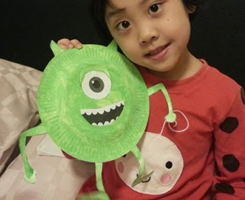 Mike Wazowski Paper Plate Craft