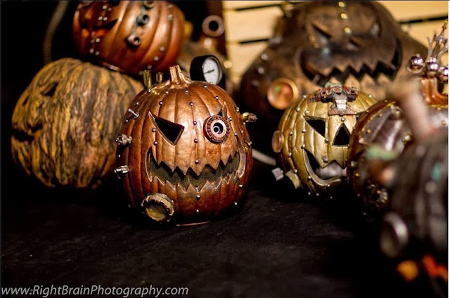 Steam Punk Pumpkin Art by The Original Steampunkins