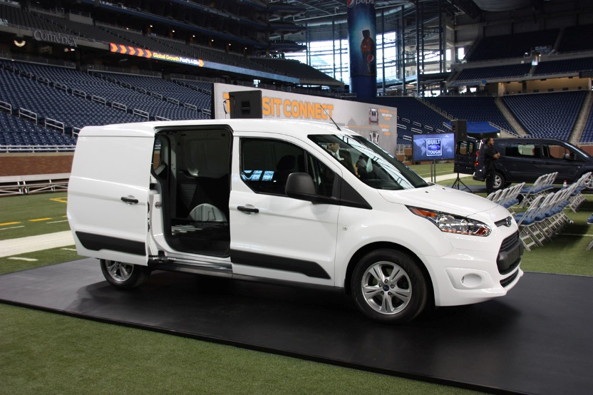 First live pictures of the Ford Transit Connect 2013 2014 for America