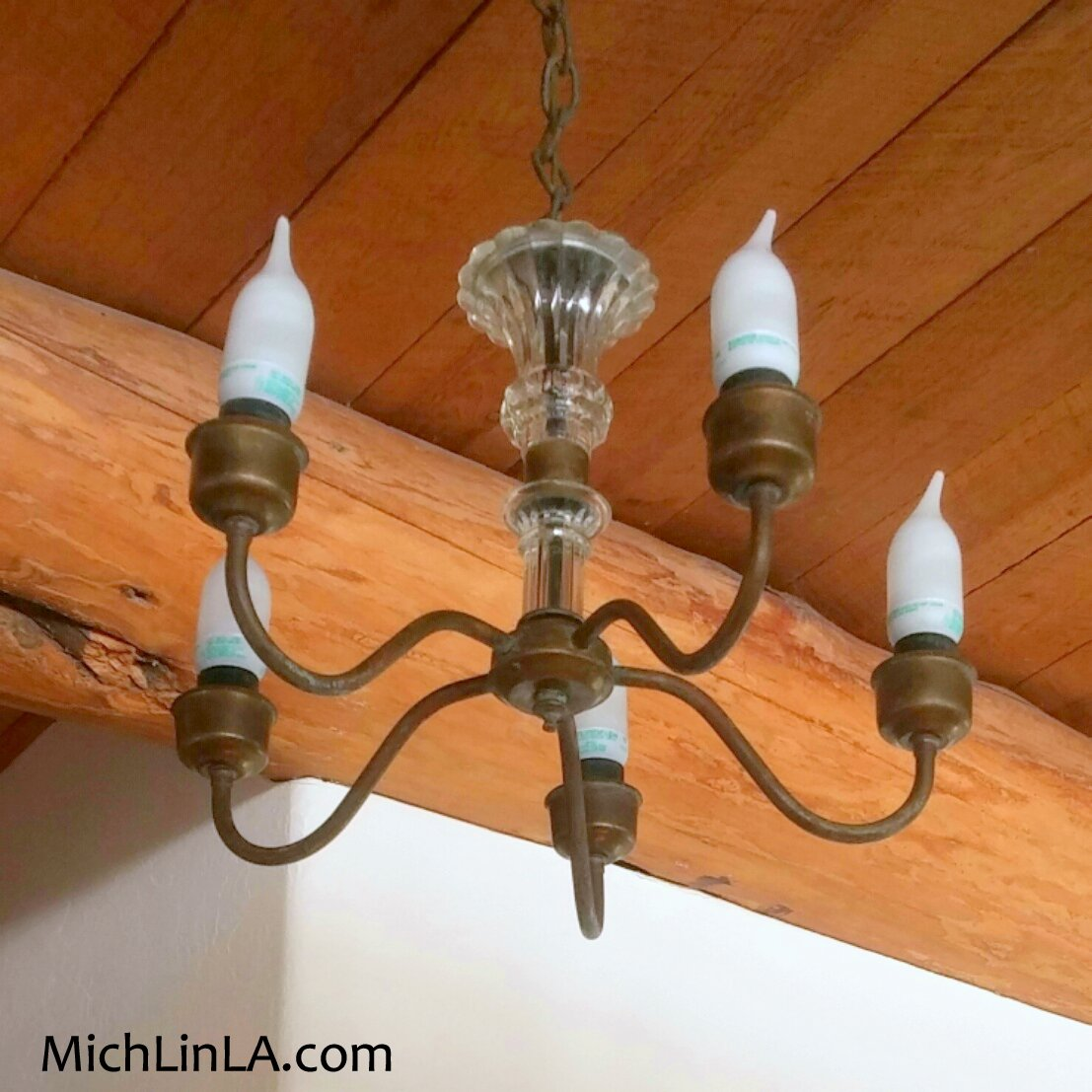 Mich l in la upcycled chandelier ruffles from starbucks cups so instead of buying mini shades i tried a very mich upcycle arubaitofo Choice Image