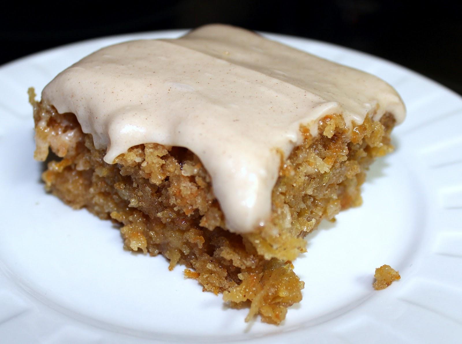 Gooey Cinnamon Carrot Poke Cake - Julie's Eats & Treats