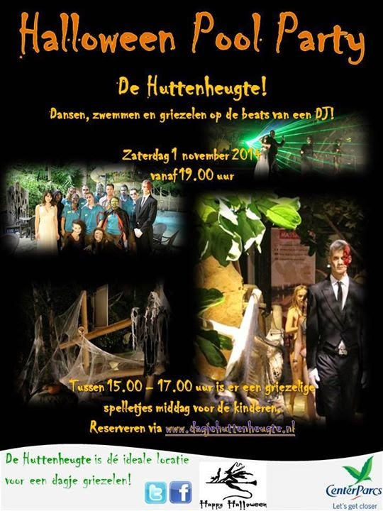 Haolloween Pool Party Center Parcs Huttenheugte zaterdag 1 november 2014