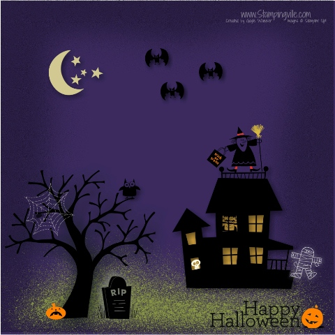Happy Halloween Digital Page