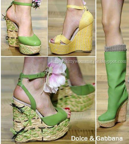 сандали на платформа Dolce & Gabbana