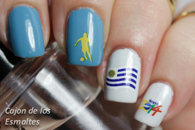nail art mundial futbol uruguay worldcup nail