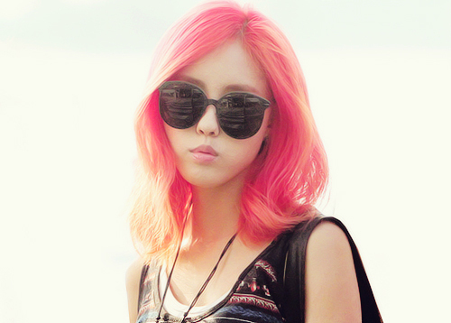 Hyomin - Pink Hair | Beautiful Korean Artists