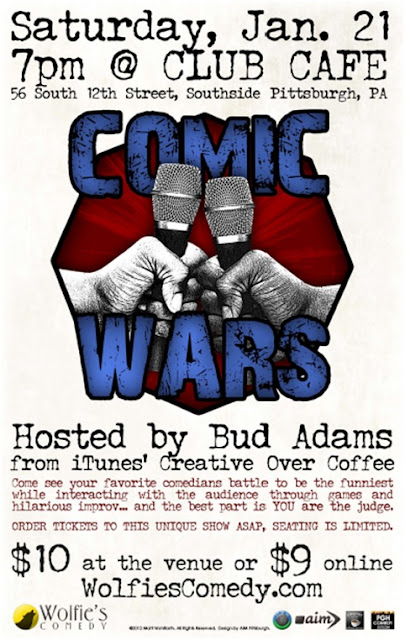 Comic Wars, Club Cafe, Pittsburgh, talent network