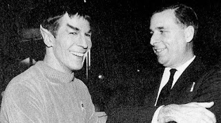 Leonard Nimoy and Gene Roddenberry