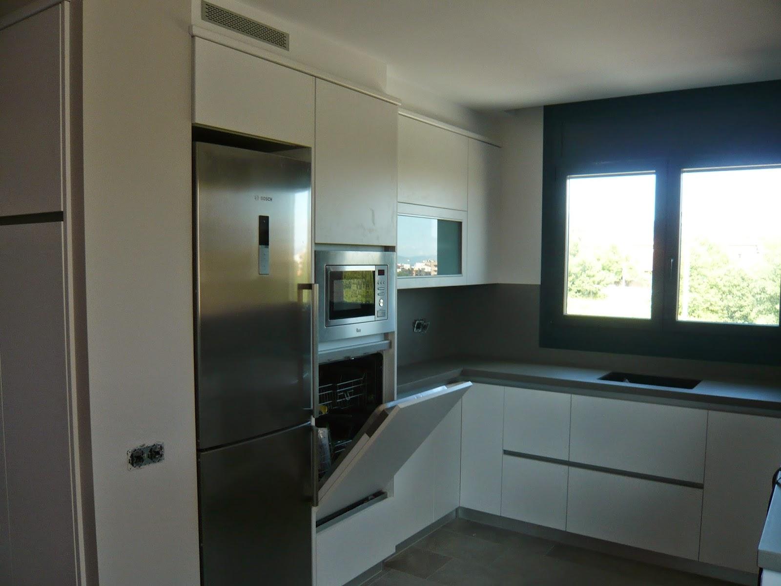 reuscuina muebles de cocina formica blanca sin tiradores On muebles de cocina con lavavajillas