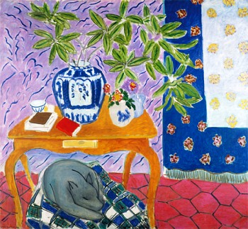 Image result for matisse interior with dog