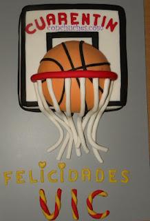 Tarta pelota de basket