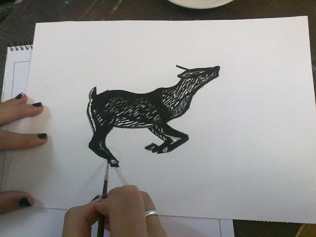 Copia de xilografía con tinta china
