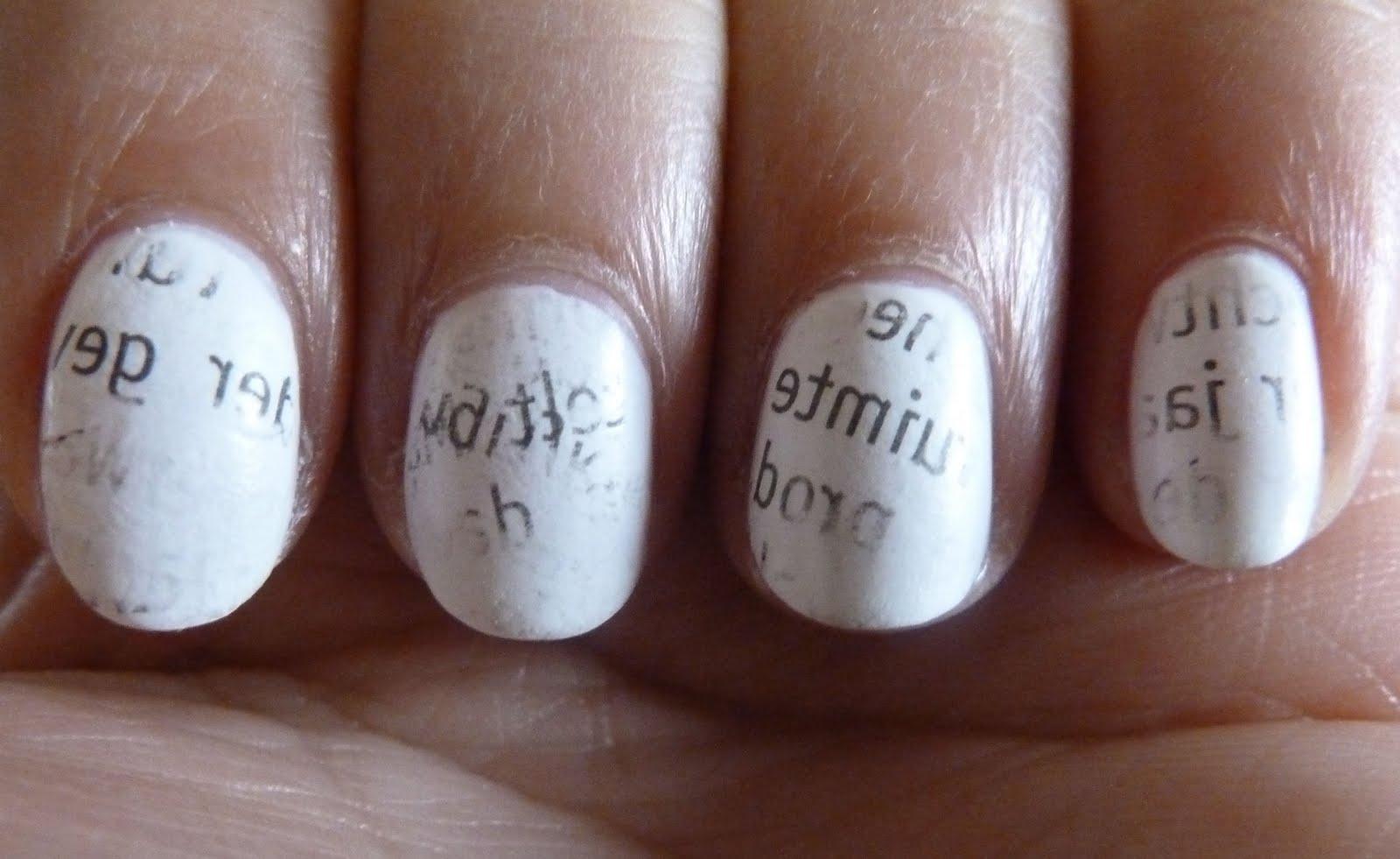 NailsByStephanie: Tutorial: Newspaper Nails