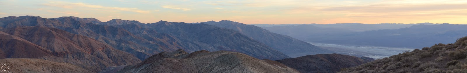Dante's view, Death Valley National Park, Californie, USA