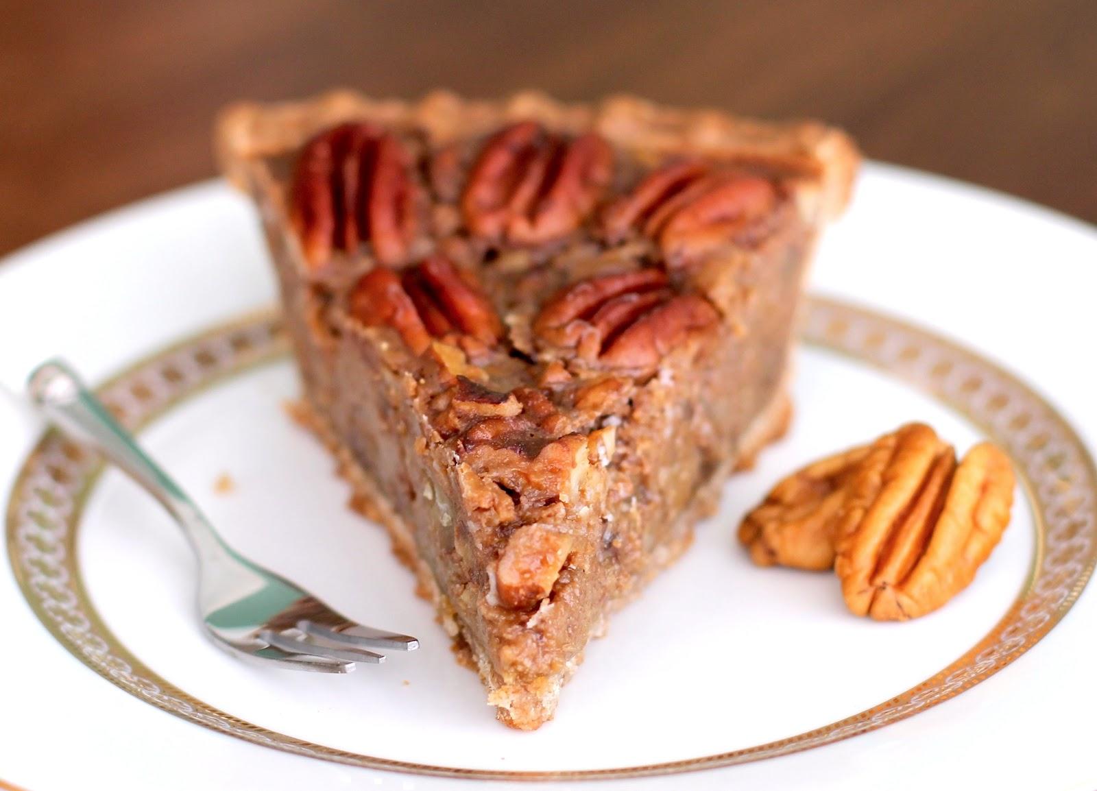 Healthy Vegan Maple Pecan Pie (refined sugar free))