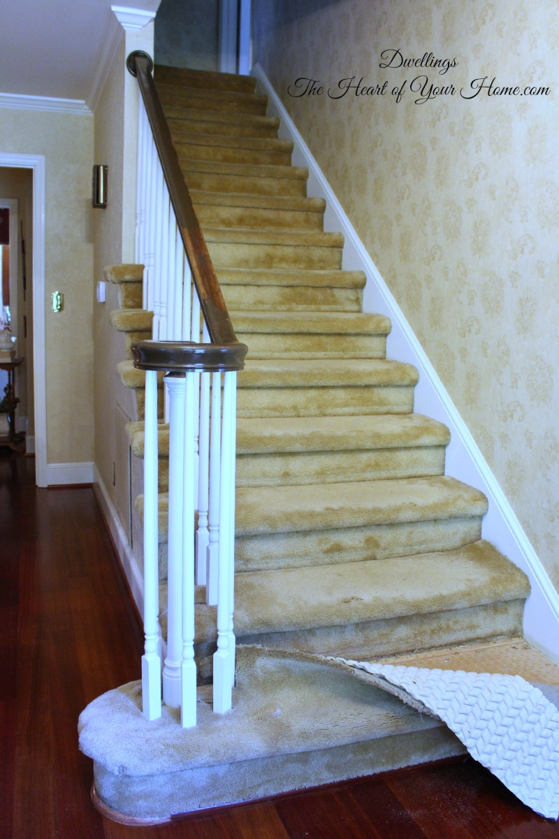 Our Staircase Diy From Carpet To Wood Dwellings The