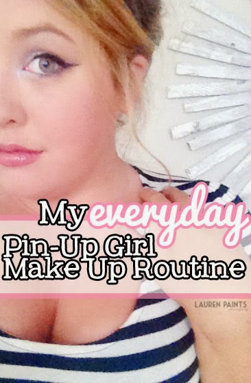 An Everyday Pin-Up Girl Make up Routine