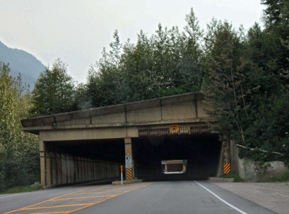 snowshed tunnel on the Trans Canadian Highway
