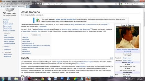 dilg sec jesse robredo wikipedia page