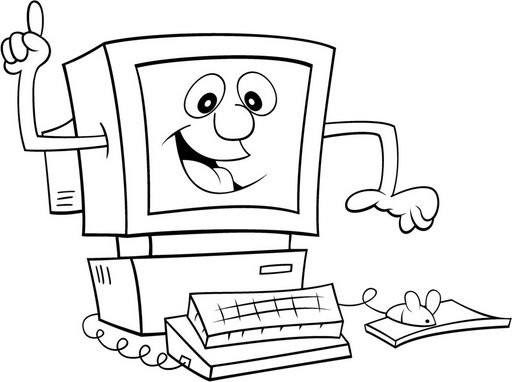 Computadoras De Dibujos Para Colorear