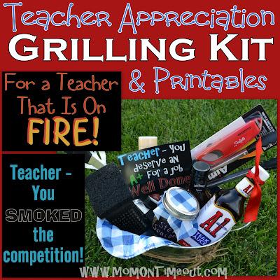 Teacher Appreciation Gift Idea: Grilling Kit | MomOnTimeout.com A fun teacher appreciation gift idea for a male teacher!
