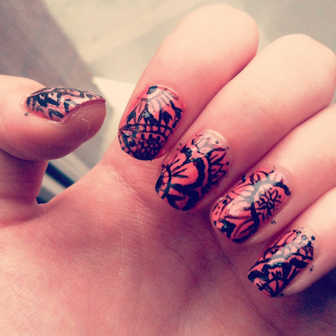 Indian Henna Nail Art And Mehndi Design Just Another