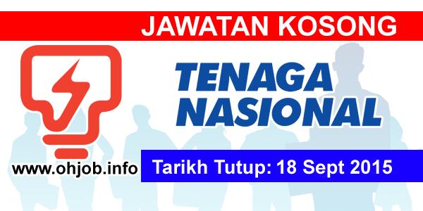 Jawatan Kerja Kosong Tenaga Nasional Berhad (TNB) logo www.ohjob.info september 2015