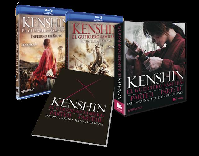 A la venta el pack con las secuelas de 'Kenshin, el Guerrero Samurái' en DVd y Blu-ray