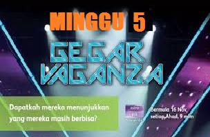 Konsert Gegar Vaganza 2014 Minggu 5