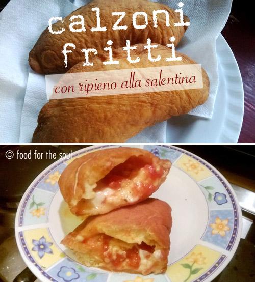 Calzone leccese salentino fritto mozzarella e pomodoro