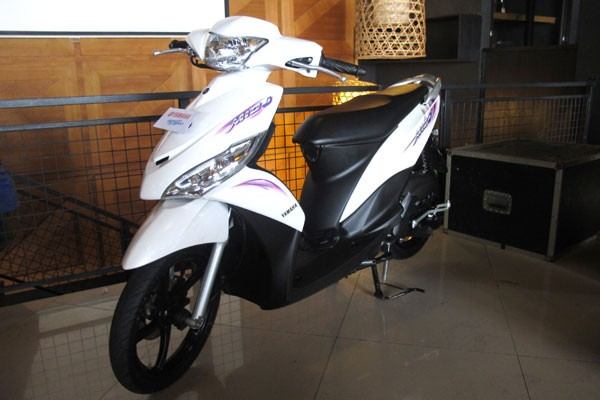 Yamaha Mio J , why this call mio j because this scootermatic modif  title=