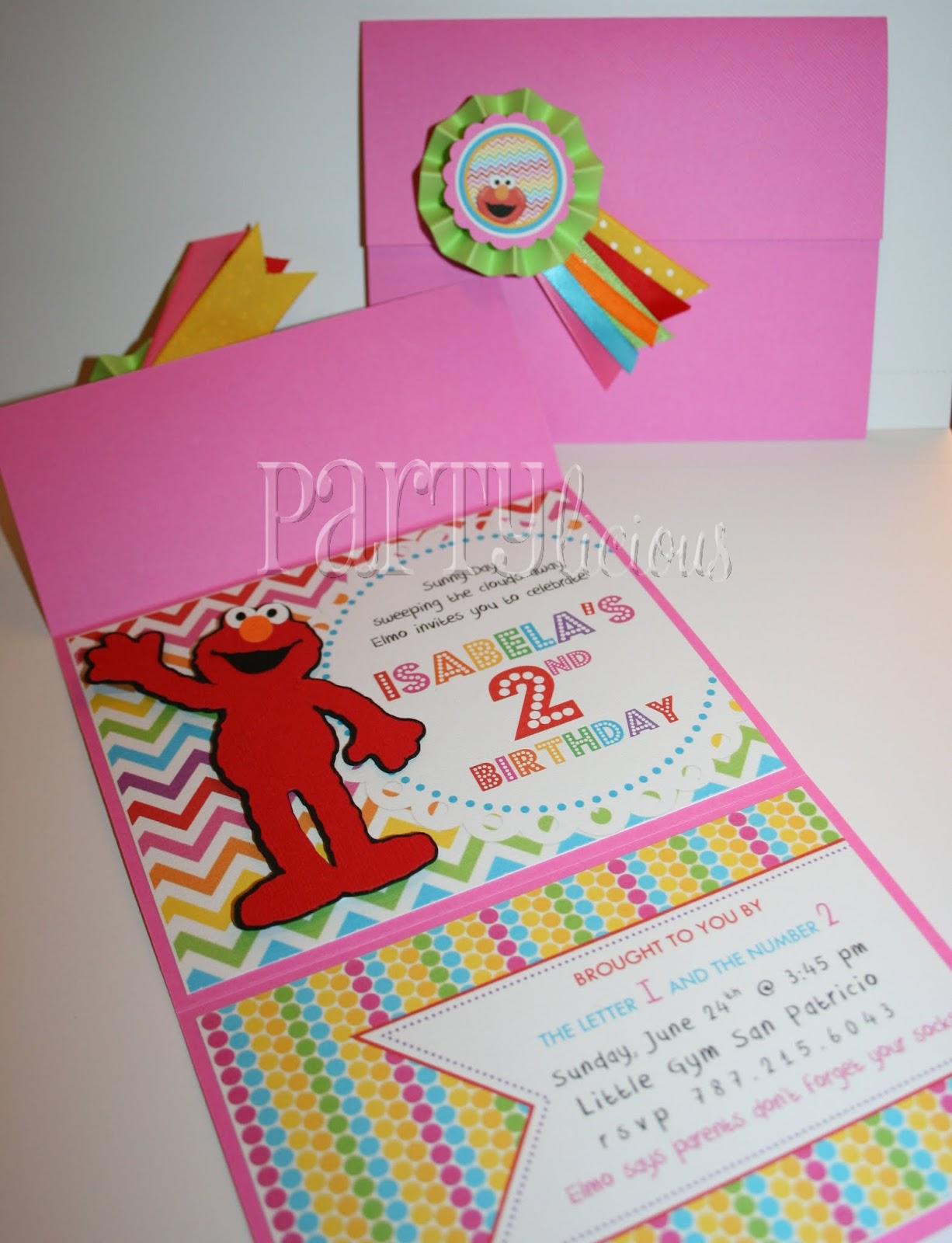 Partylicious Rainbow Elmo Birthday – Free Printable Elmo Birthday Invitations