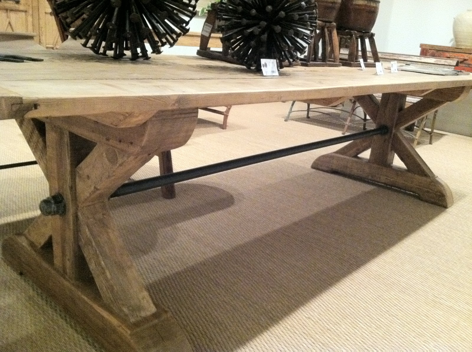 Dining tables gerrit industrial style rustic pine iron dining table - Rustic Dining Table Rustic Dining Room Tables Rustic Wood Dining Vintage Wild Orchid We Love Farmtables