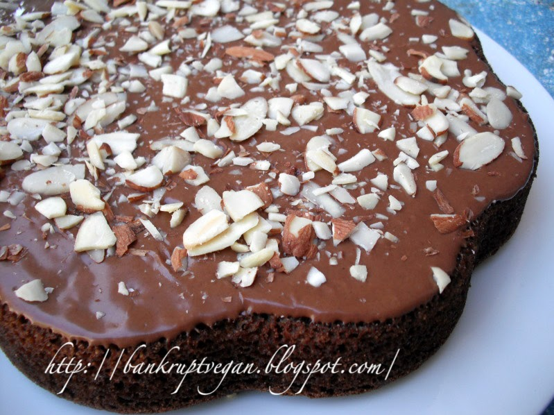 Vegan Wacky Chocolate Cake With Peanut Butter Frosting