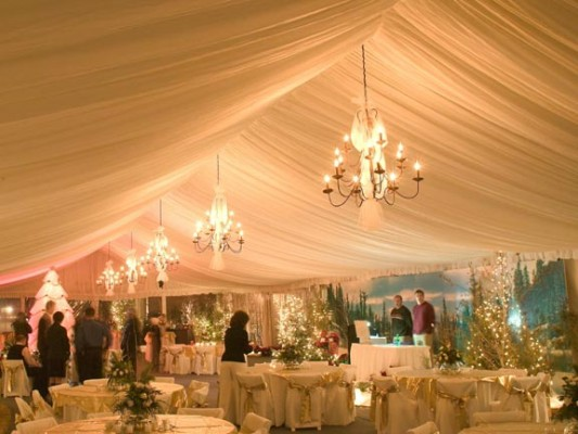 Backyard Tent Wedding Reception Ideas : Prairie Sage  How to decorate a wedding tent