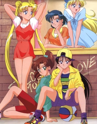 Sailor Moon con sus amigas