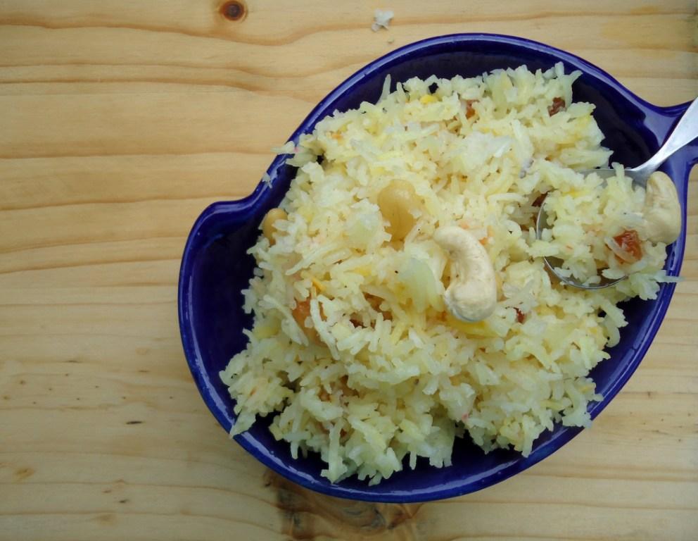 Sweet Coconut Rice / नाराली भात