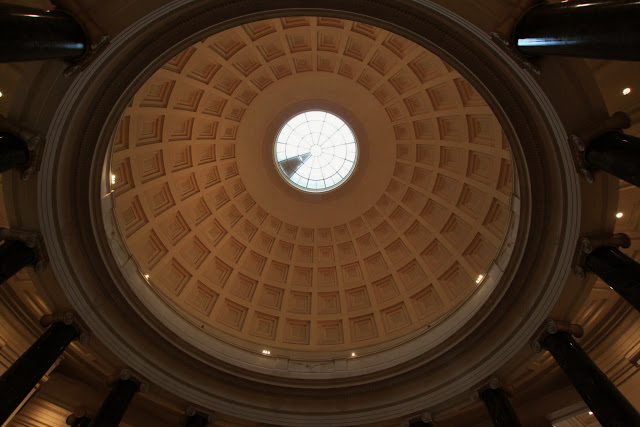 Beautiful dome on the ceiling at National Gallery of Art in Washington DC, USA