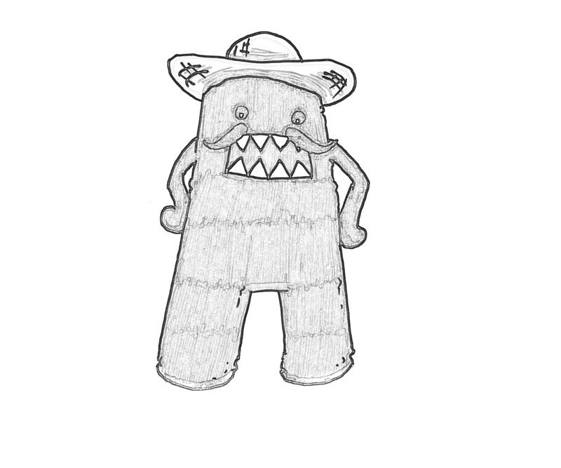 domo kun coloring pages - photo#16