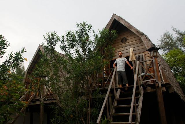 Nuestra cabaña en Gili Meno, Gili Islands.