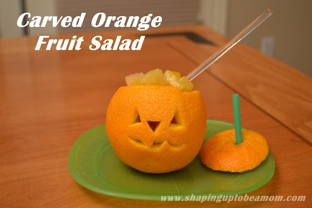 Carved Orange Fruit Salad