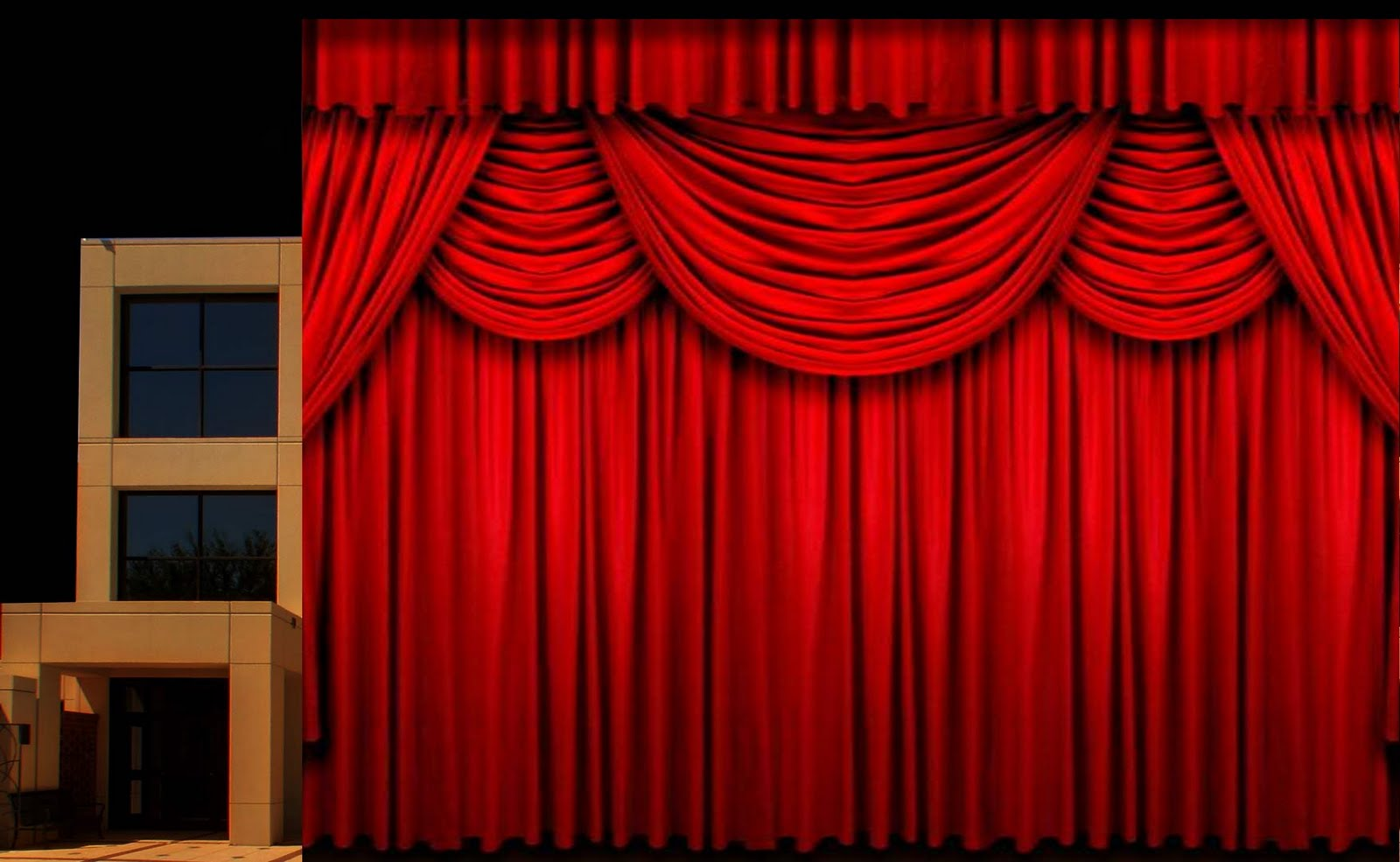 Spotlight On Microphone Stage Curtain