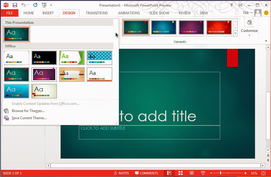 Microsoft Office Professional Plus 2013 Power Point PPT