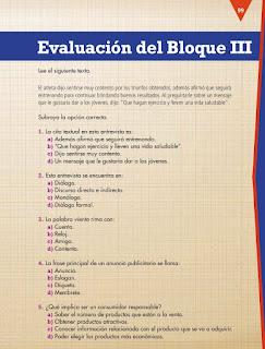 Apoyo Primaria Español 4to Bloque III Evaluación del Bloque III