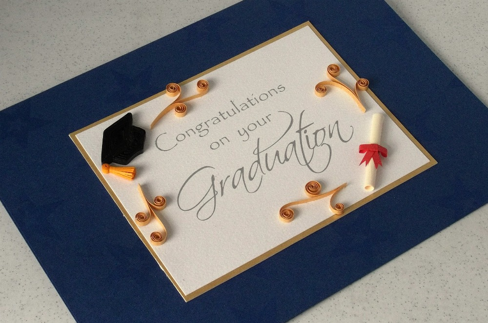 quilled graduation card