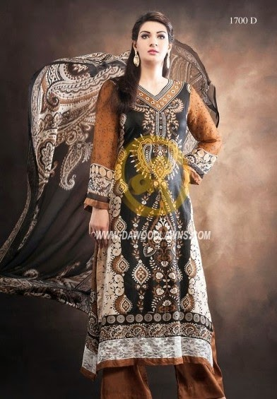 DawoodLawnsCollection2014 wwwfashionhuntworldblogspotcom 03 - Dawood Textiles Zam Zam Chiffon Lawn Collection 2014