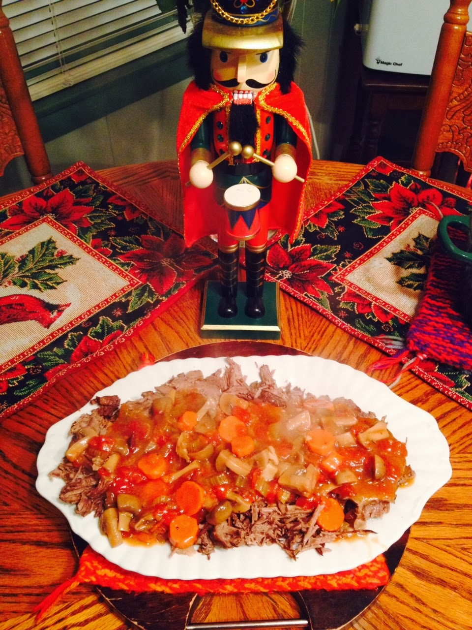 ... Capers: Oven Braised Italian Style Pot Roast Over Creamy Polenta